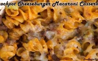 Slow Cooker Cheeseburger Macaroni Casserole