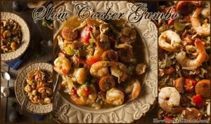 Slow Cooker Gumbo Recipe. Find this and more great recipes @ https://www.slowcookerkitchen.com