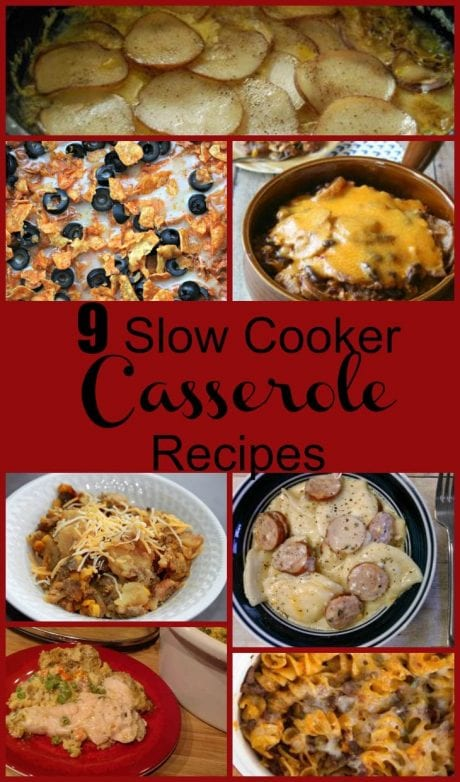 9 Delicious Slow Cooker Casserole Recipes! Find this and more yumminess @ https://www.slowcookerkitchen.com