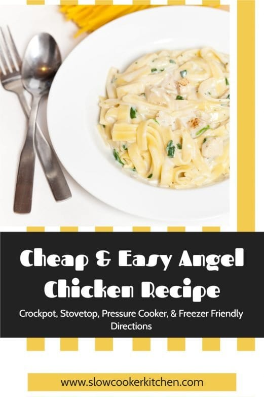 Cheap and easy, super tasty angel chicken! With slow cooker, skillet, pressure cooker, & freeze ahead directions!