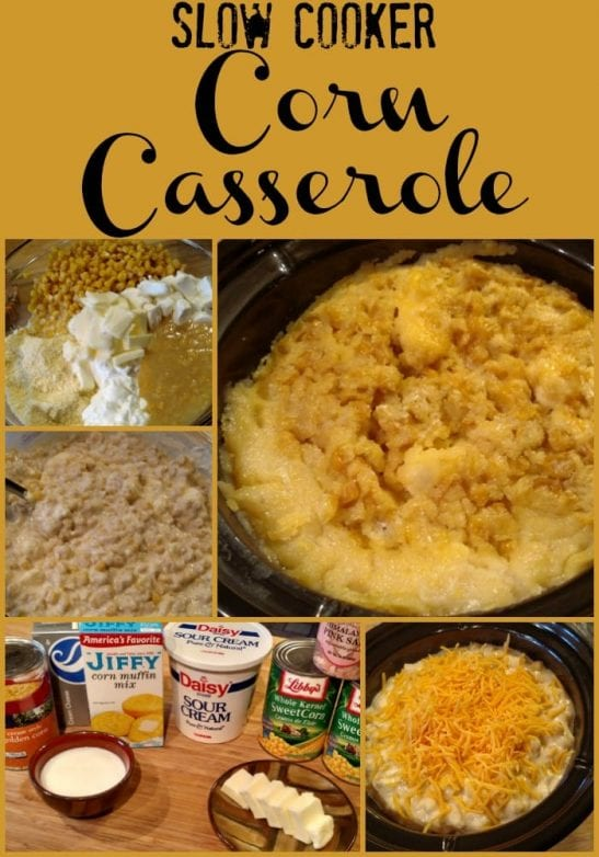 Slow Cooker Corn Casserole! Find this & more yummy recipes @ https://www.slowcookerkitchen.com