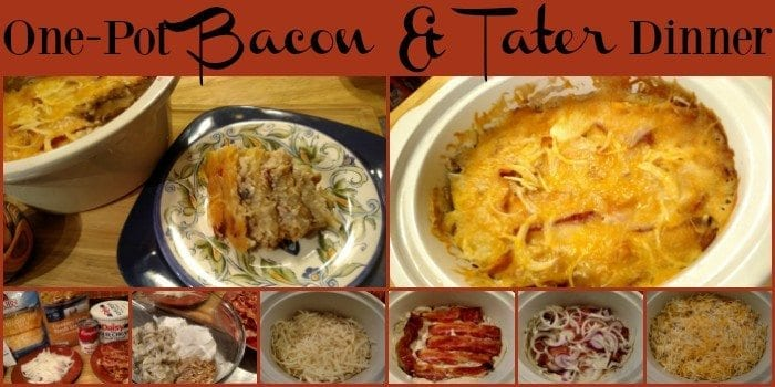One-Pot Bacon Potato Casserole! Find this & more yumminess @ https://www.slowcookerkitchen.com