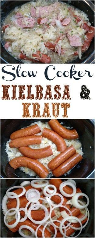 Slow Cooker Kielbasa Kraut