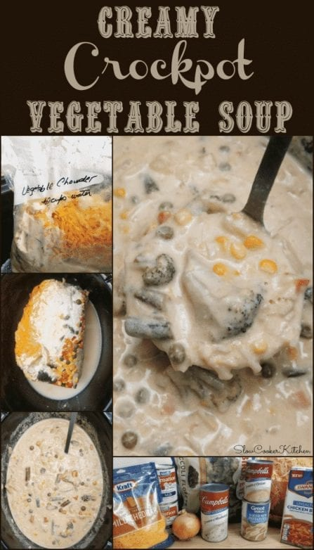 Creamy Crockpot Vegetable Soup