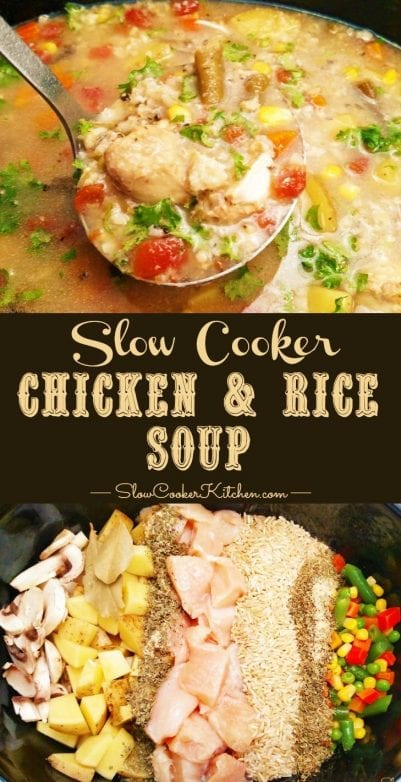 Slow Cooker Chicken & Rice Soup