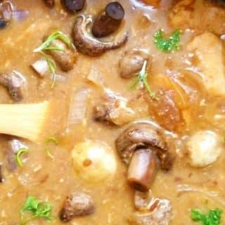 Crockpot Ranch Chicken and Mushrooms