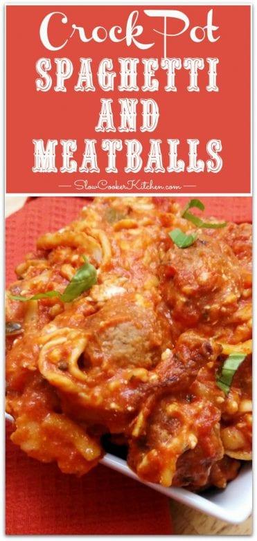 Crock Pot Spaghetti and Meatballs