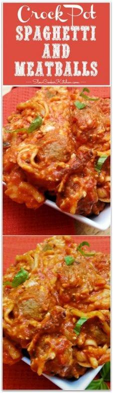 Crockpot Spaghetti and Meatballs
