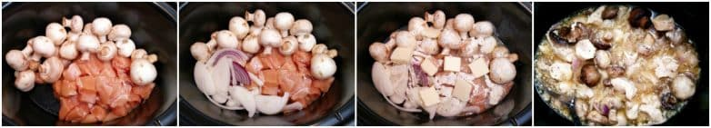 Slow Cooker Ranch Chicken and Mushrooms Step-by-Step