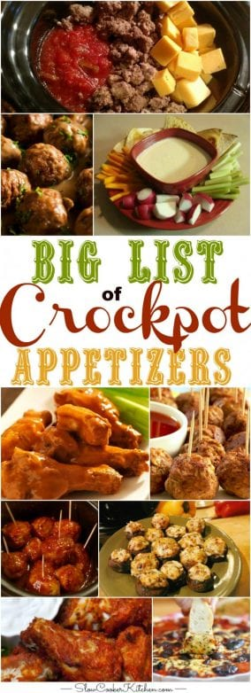 crock pot appetizers
