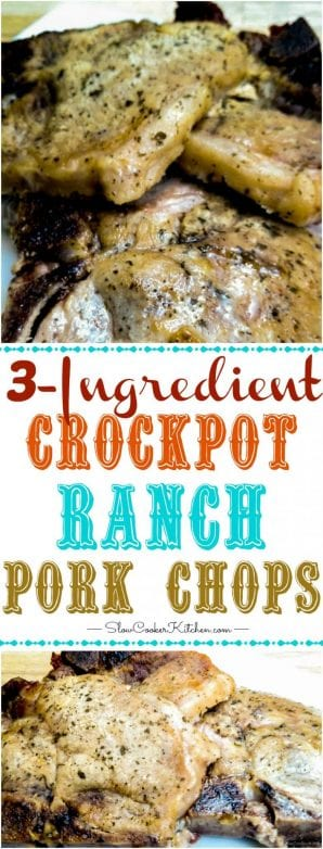 Find these tasty crockpot ranch pork chops and lots more like it @ https://www.slowcookerkitchen.com
