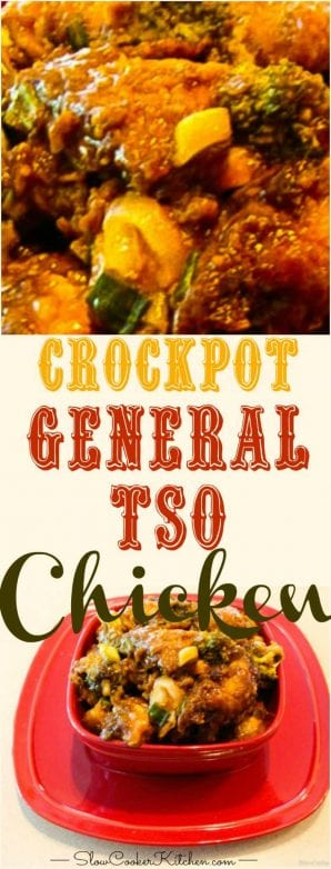 Find slow cooker General Tso Chicken and more crockpot delciousness @ https://www.slowcookerkitchen.com