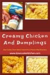 Cheap and easy, amazingly simple easy chicken and dumplings! With crockpot, oven-baked, pressure cooker, & freezer friendly directions!