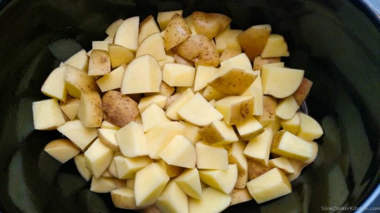 prep work for crock pot mashed potatoes