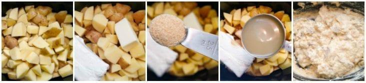 crock pot mashed potatoes collage