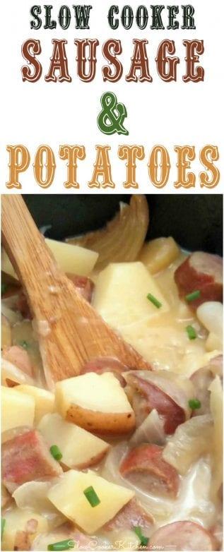 crock pot sausage and potatoes