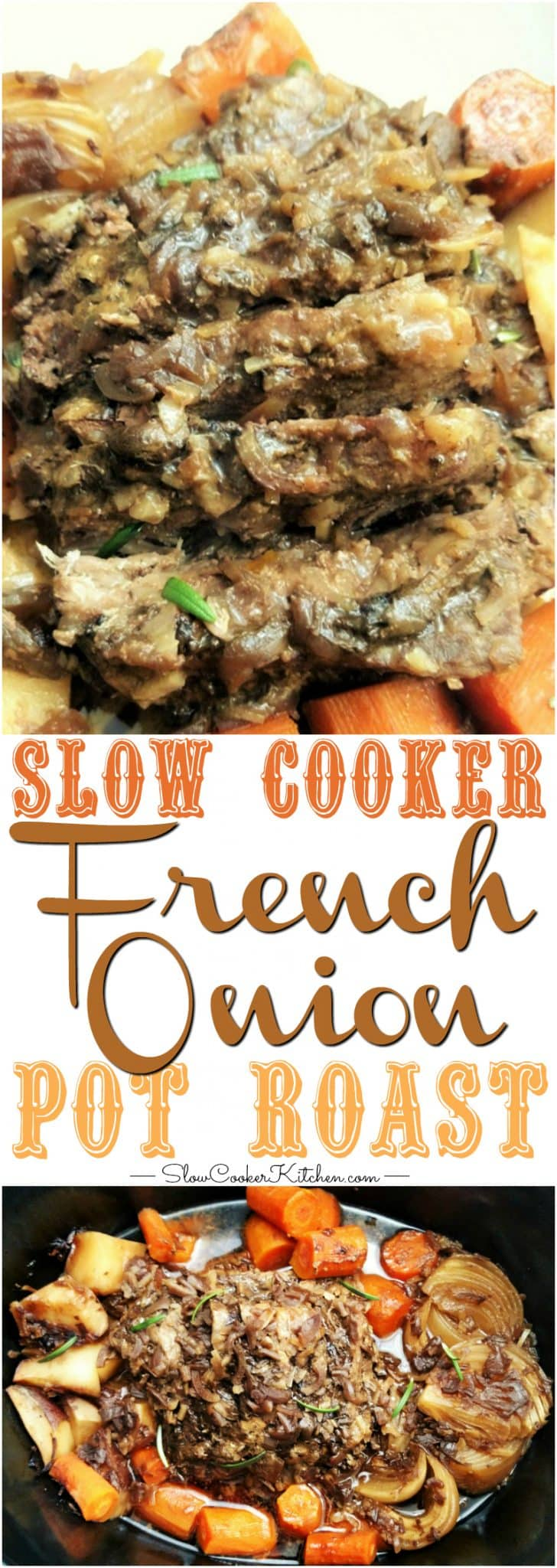 4-Ingredient French Onion Crock Pot Pot Roast | Slow ...