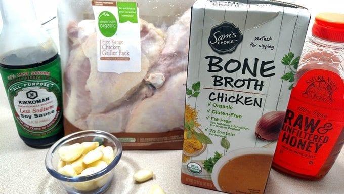 honey garlic crockpot chicken and potatoes