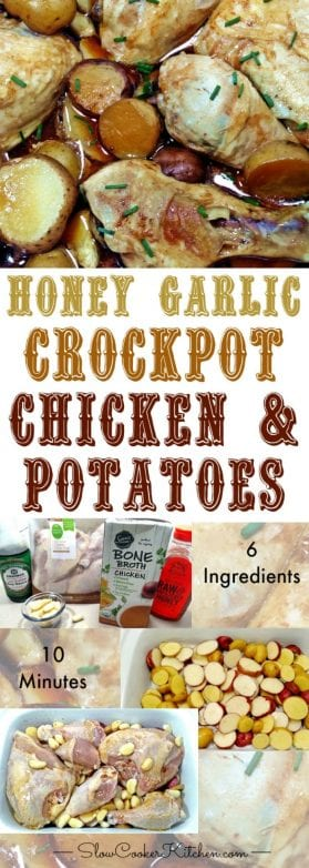 Honey Garlic Slow Cooker Chicken Potatoes