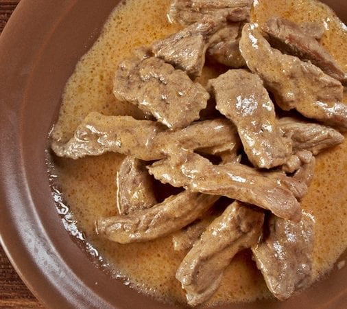 4-Ingredient Slow Cooker Steak Strips