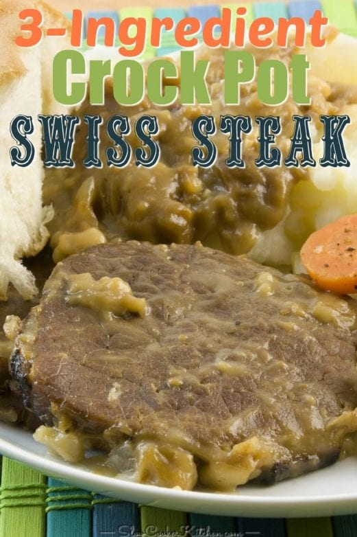 3-Ingredient Crock Pot Swiss Steak