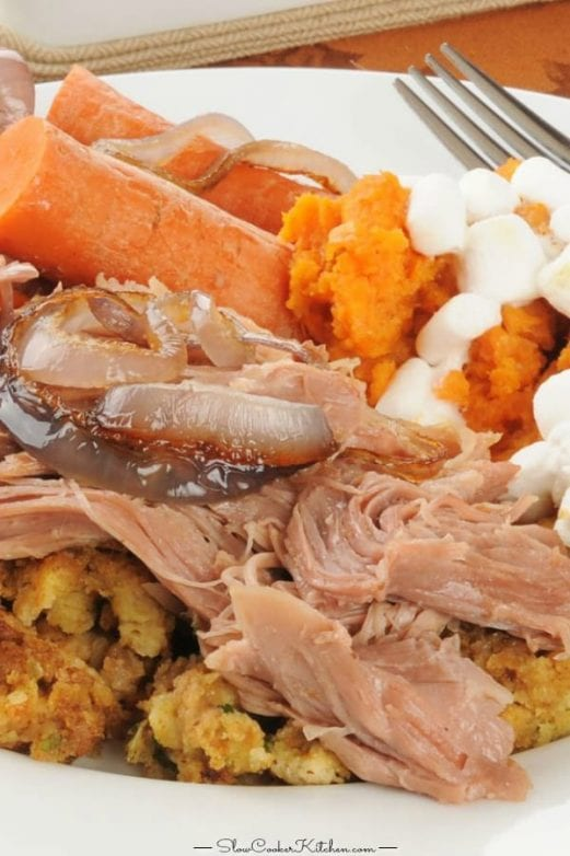 crock pot turkey pot roast complete dinner