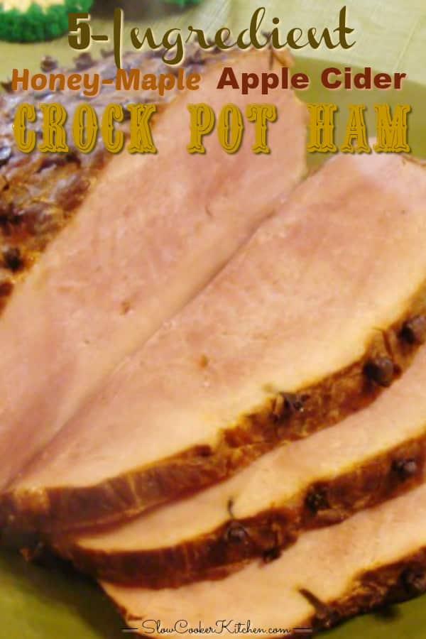 slow cooker ham complete pinterest image