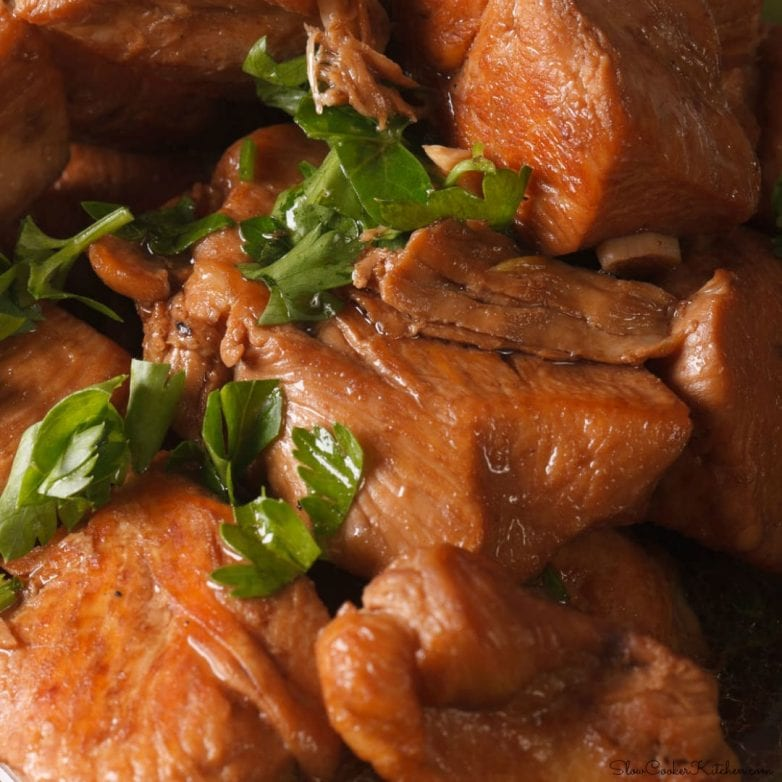 easy, 5-ingredient crock pot chicken adobo