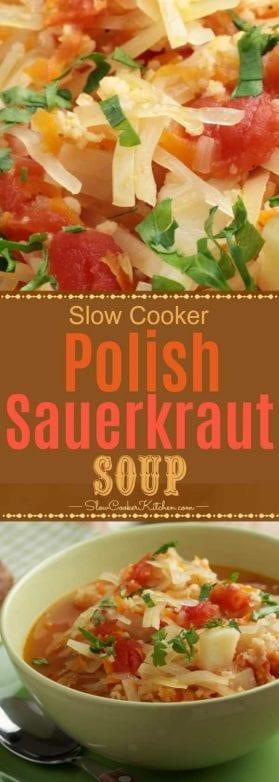 Crockpot Kapusnyak is a Polish Sauerkraut Soup and delicious
