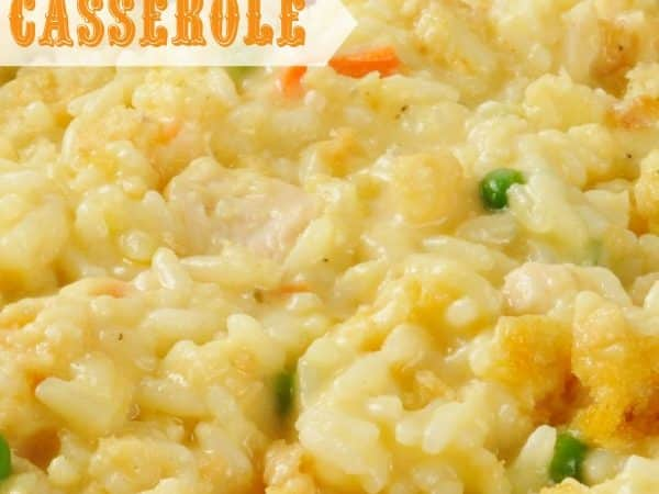 Crock Pot Chicken and Rice Casserole! Freezer friendly with stove-top AND oven directions provided too.