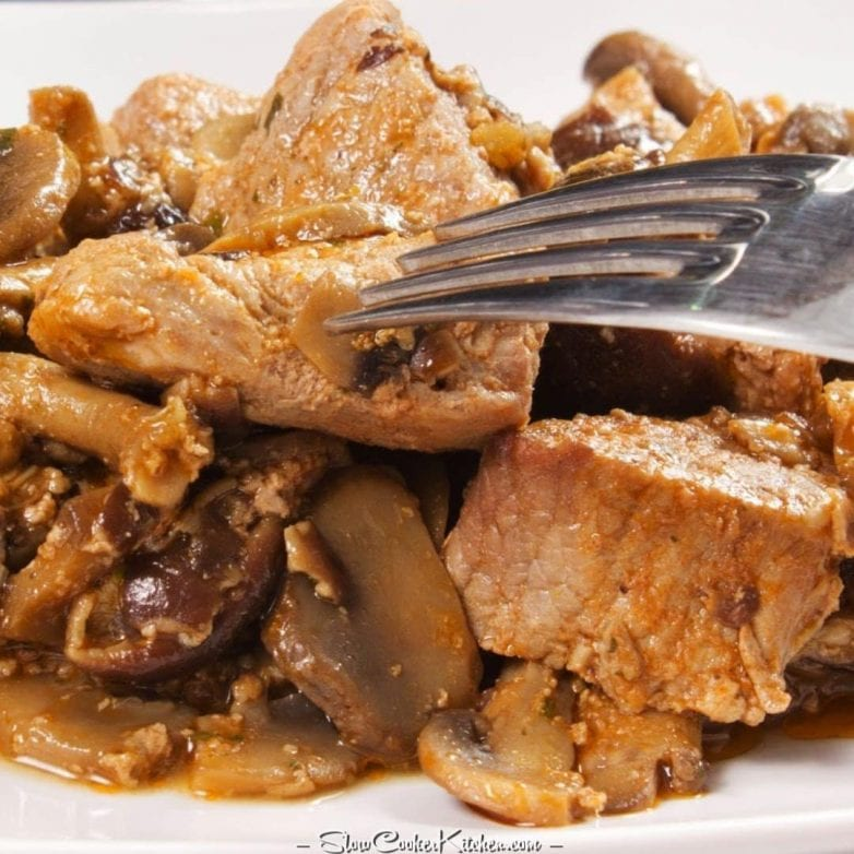 Slow Cooker Steak and Mushrooms