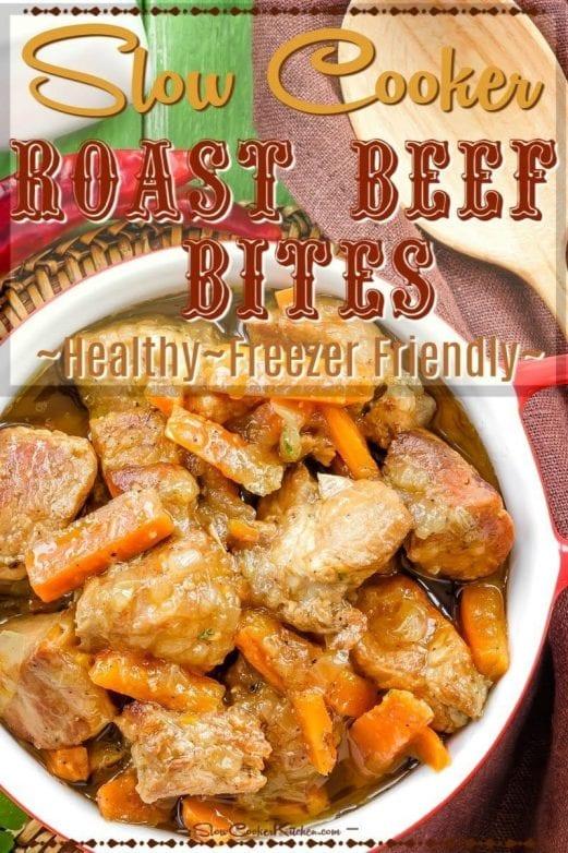 Crockpot Beef Roast Bites