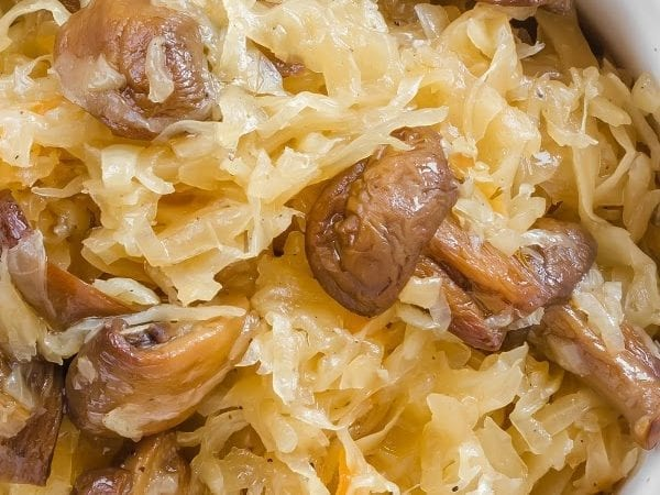 Slow Cooker Cabbage & Mushrooms