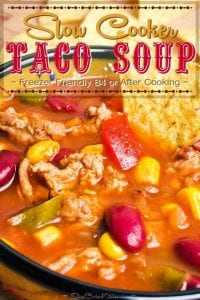 Deliciously Easy Slow Cooker Taco Soup