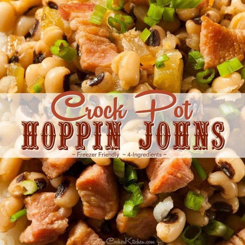 Crock Pot Black-eyed peas and ham recipe