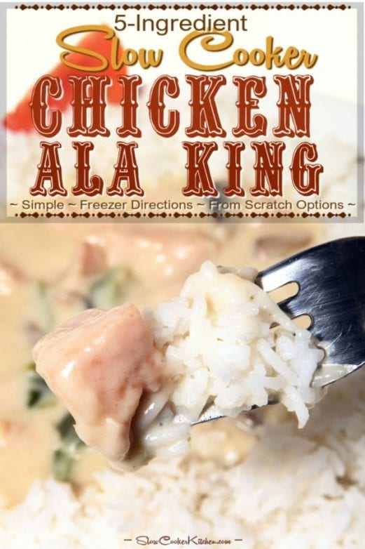 Easy Slow Cooker Chicken Ala King