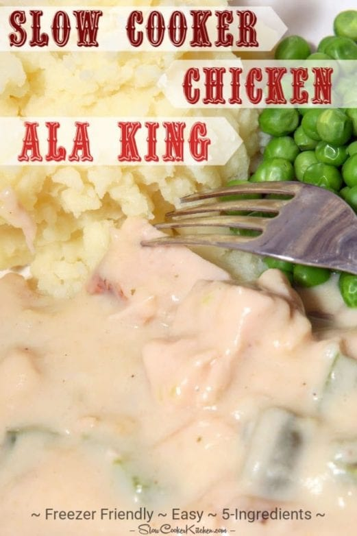 5-Ingredient Crock Pot Chicken Ala King