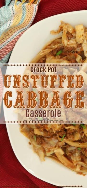 Complete dish of crockpot unstuffed cabbage casserole