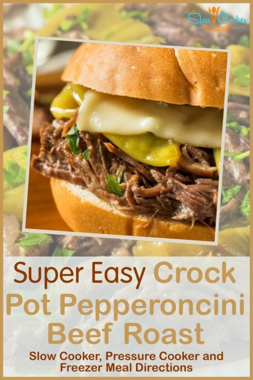 Quick and simple, super tasty mississippi roast in the oven! With crockpot, oven-baked, pressure cooker, & freeze ahead directions!