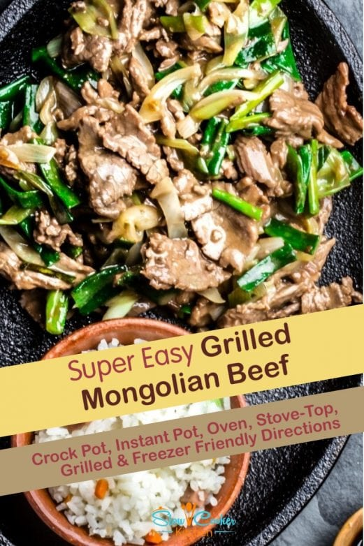 Simple and tasty, freezer friendly spicy mongolian beef! With slow cooker, oven-baked, skillet, pressure cooker, & freezer meal directions!