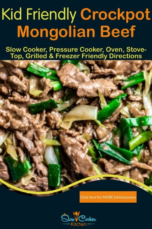 Quick and simple, super tasty pressure cooker Mongolian beef! With slow cooker, oven-baked, skillet, pressure cooker, & freezer friendly directions!