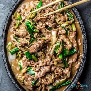 Easy Slow Cooked Mongolian Beef