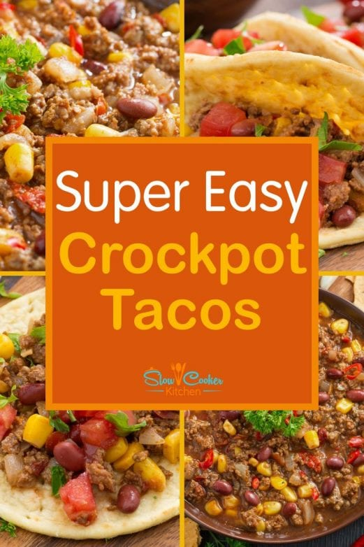 Kid-friendly, super easy slow cooker tacos! With slow cooker, oven-baked, pressure cooker, & freeze ahead directions!