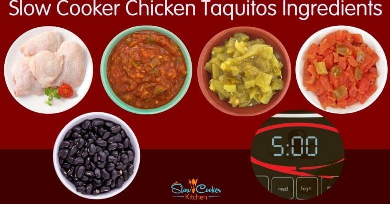 Amazingly easy, cheap and tasty chicken taquitos recipe! With slow cooker, oven-baked, pressure cooker, & freezer meal directions!