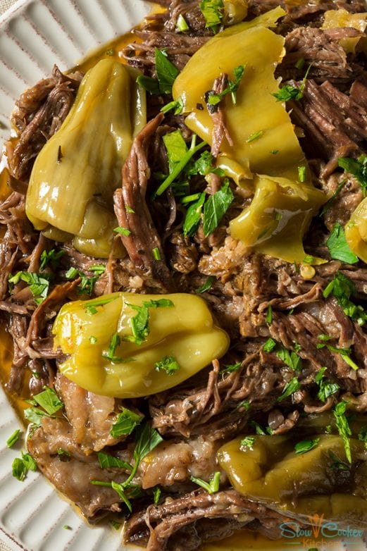 Super easy, deliciously tasty instant pot Mississippi roast! With slow cooker, oven-baked, pressure cooker, & freezer friendly directions!