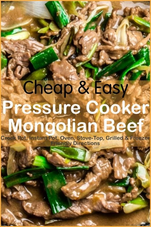 Amazingly easy, super tasty pf changs mongolian beef recipe! With slow cooker, oven-baked, skillet, pressure cooker, & freeze ahead directions!