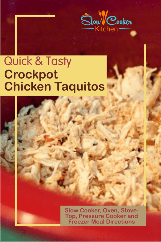 Super easy, deliciously tasty baked chicken taquitos! With slow cooker, oven-baked, pressure cooker, & freezer friendly directions!