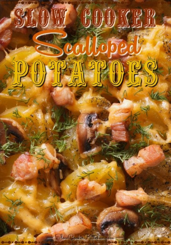 Cheap and tasty, quick and easy crockpot scalloped potatoes and ham! With crockpot, oven-baked, pressure cooker, & freezer meal directions!