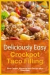 Super simple, quick and tasty slow cooker ground beef tacos! With slow cooker, skillet, instant pot, & freezer meal directions!