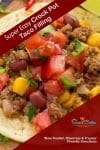 Simple and tasty, deliciously easy slow cook beef tacos! With slow cooker, skillet, pressure cooker, & freezer meal directions!